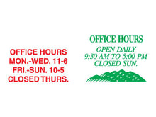 Vinyl Applied Office Hours