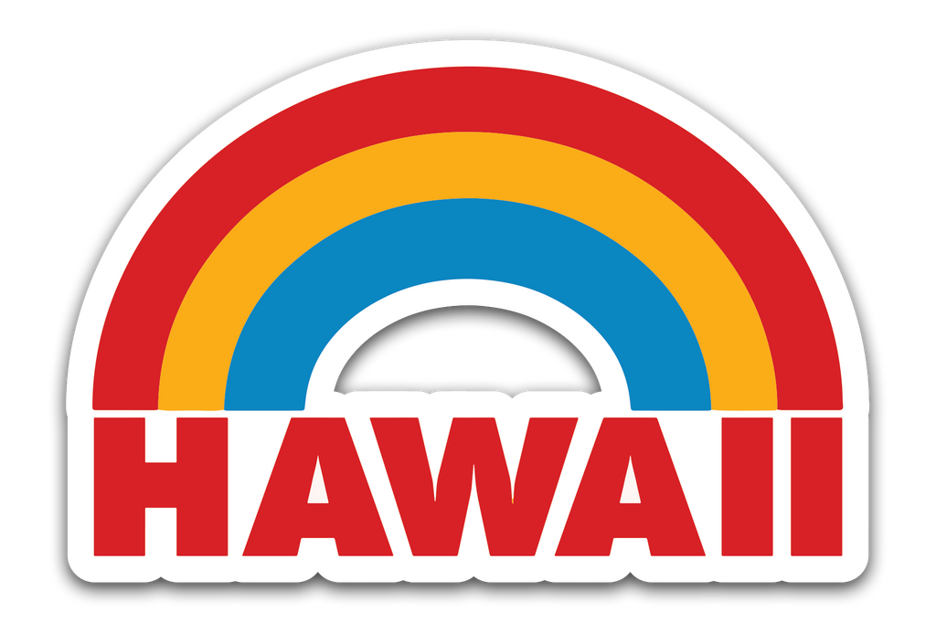 "VINYL 4"" HAWAII STICKER"