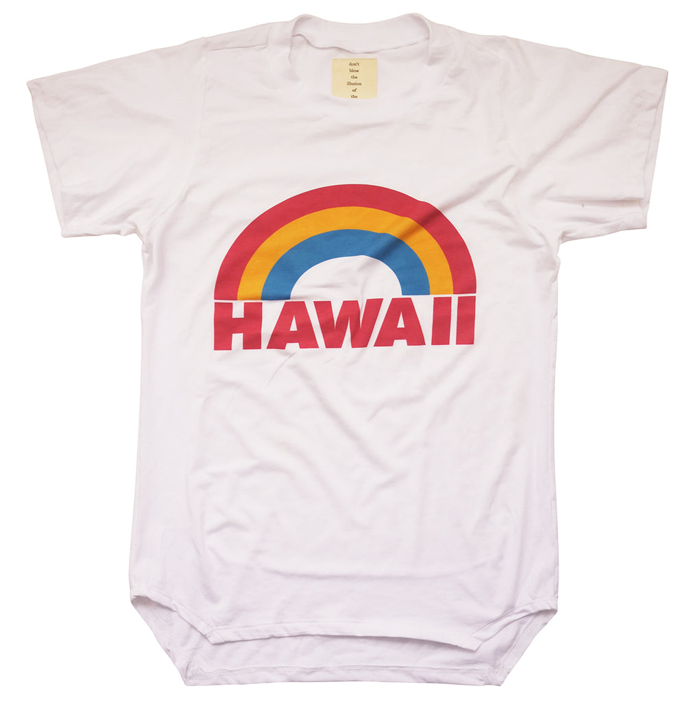NEW UNISEX BAMBOO 'HAWAII' RAINBOW TEE