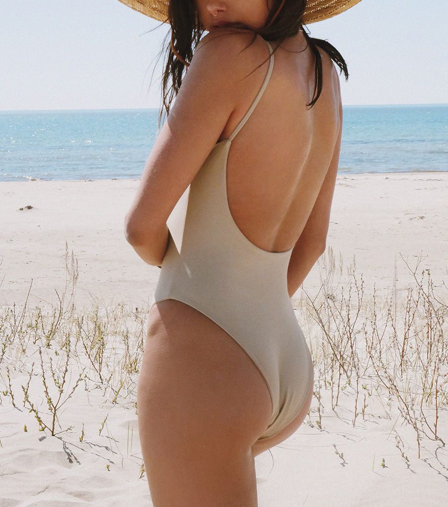 'NUDE' MODEST ONE PIECE