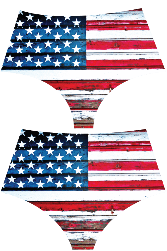 Bottoms, Hotcakes - 'AMERICUH' LASER CUT MID-RISE BRIEF