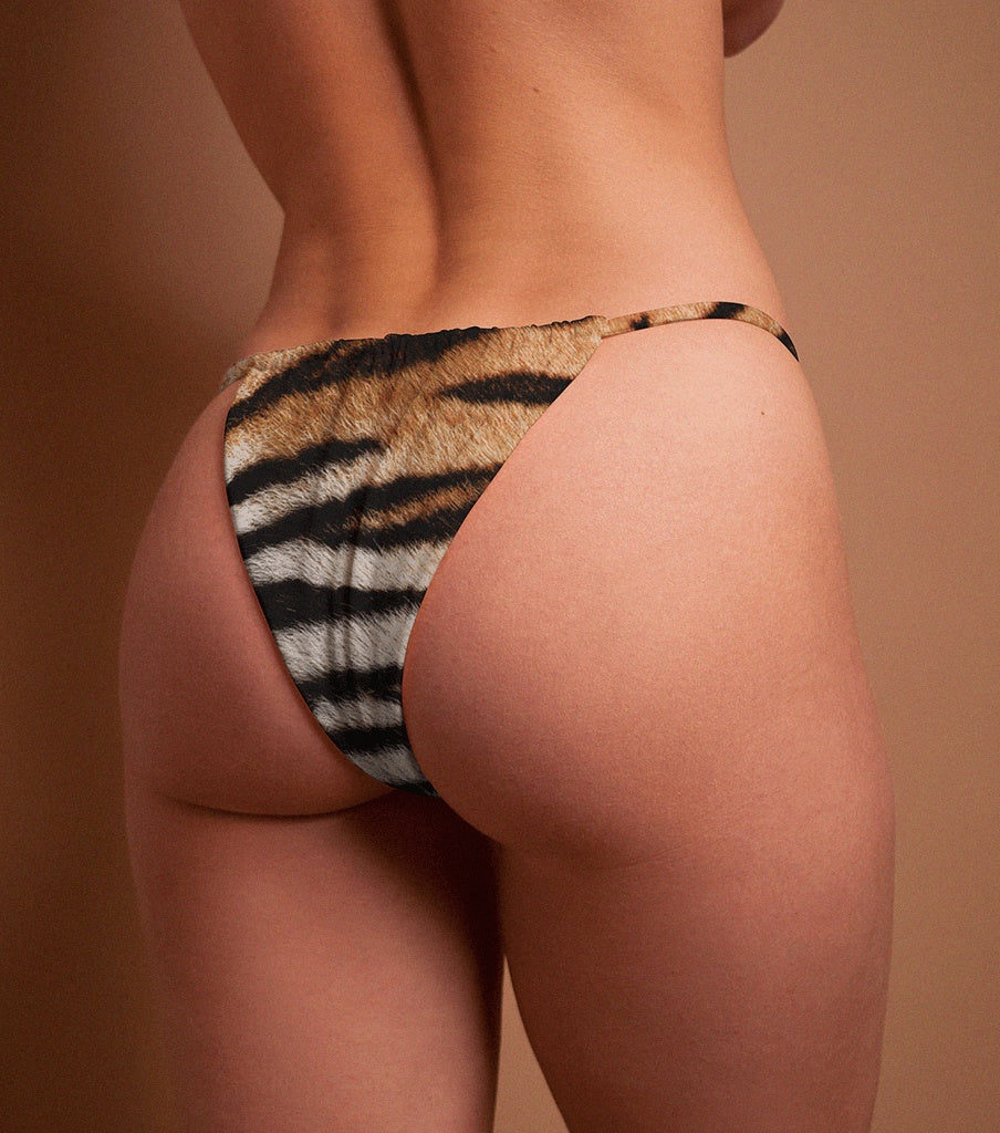 Bottoms, Hotcakes - STRING BOTTOM X TIGER PRINT