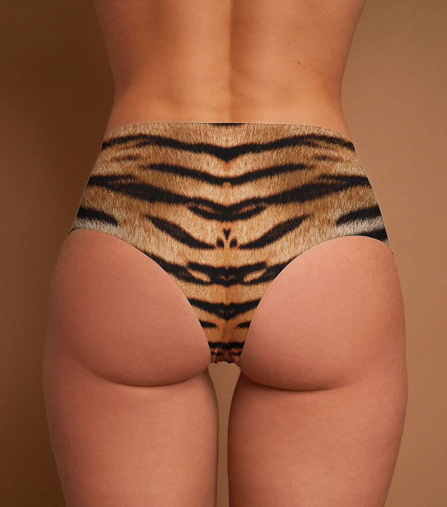 Bottoms, Hotcakes - 'TIGER' LASER CUT MID-RISE BRIEF