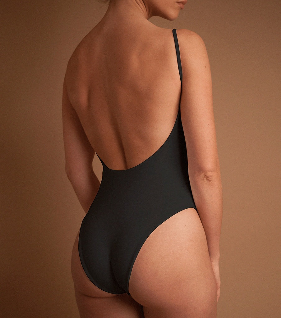 One Pieces - 'CHARCOAL' MODEST ONE PIECE