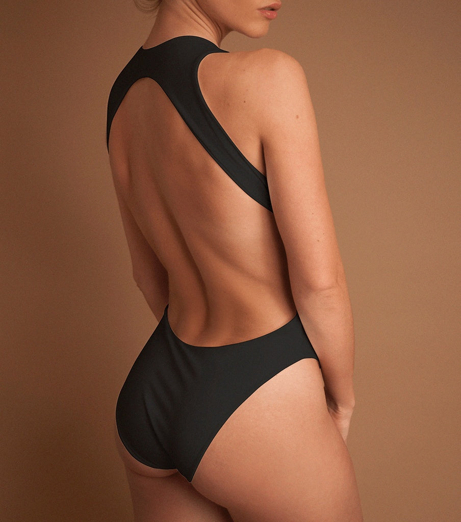 One Pieces - 'CHARCOAL' SURF ONE PIECE