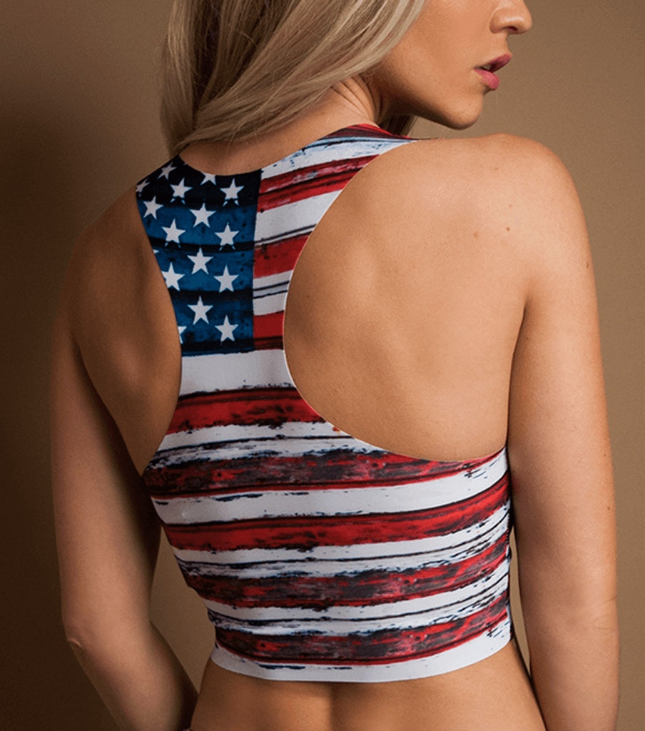 LIMITED! THE AMERICUH RAZER CROP TOP