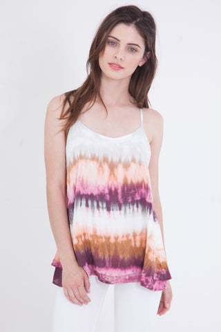 Black and White Tie Dye Cami