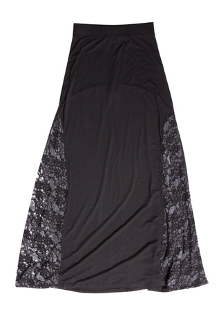 Luxe Basics Lace Maxi Skirt in Black
