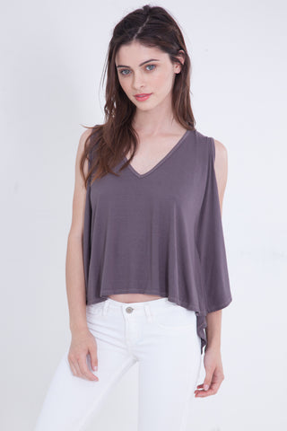 Luxe Basics Lace Short Sleeve Loose Tee in Cumin