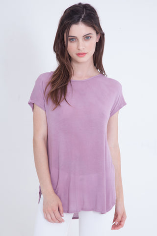 Loose Fit Tee Luxe Basics - Lilac