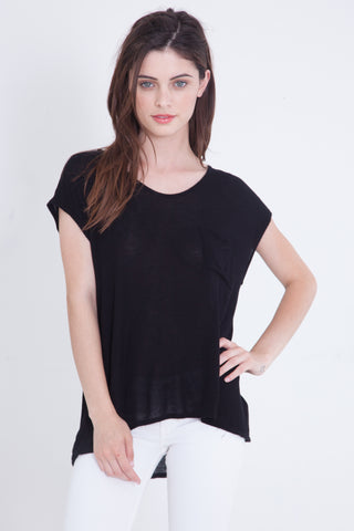 Luxe Basics Phoenix Sheer Color-block Loose Fit Tank - Black/Taupe