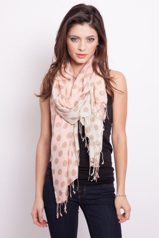 Polka Dot Scarf in Light Pink