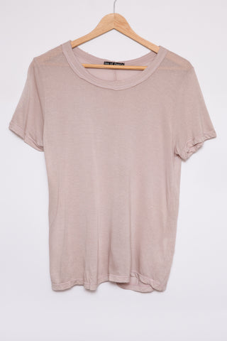 Luxe Basics Glitter Short Sleeve Tee in Blush