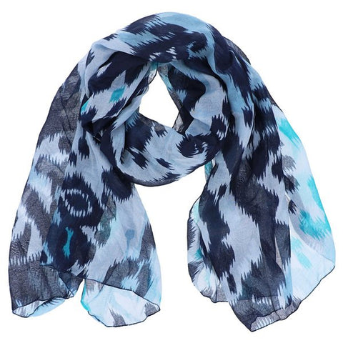 Watercolor Ink Print Scarf in Mint