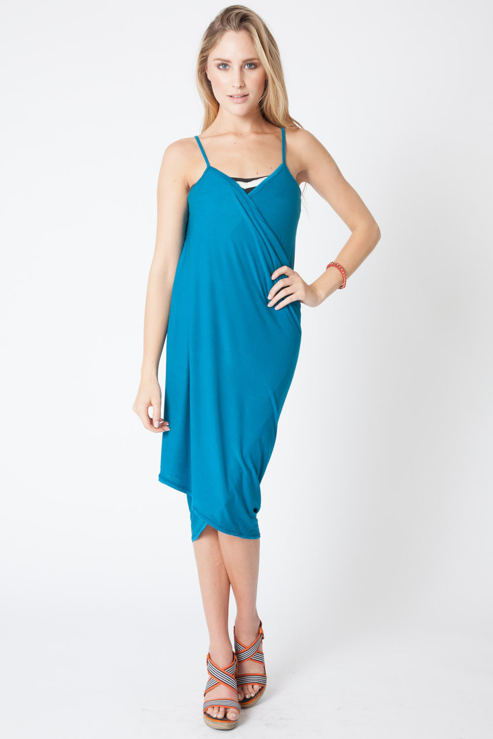 Convertible Beach Wrap Dress in Dark Turquoise