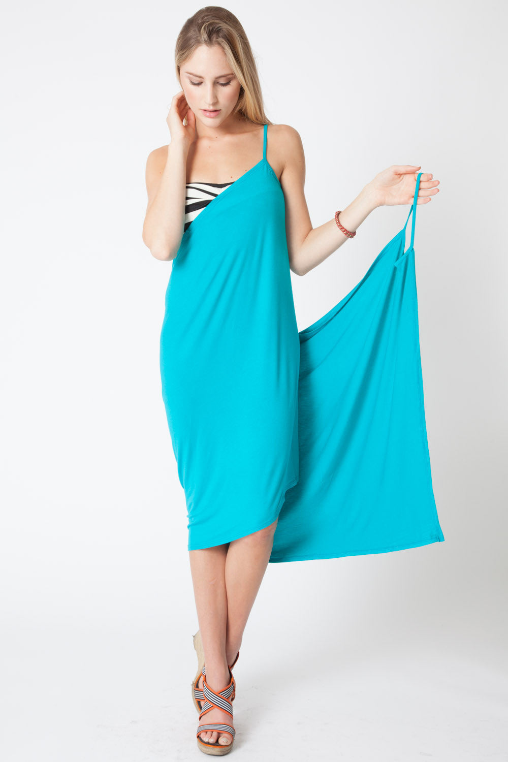 Convertible Beach Wrap Dress in Jade