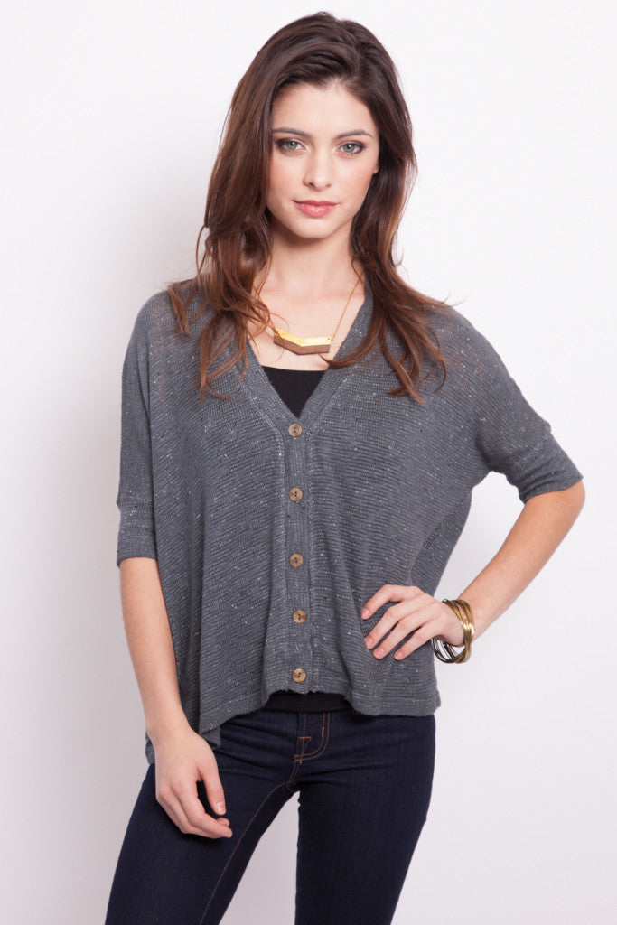 Charcoal Sweater Cardigan