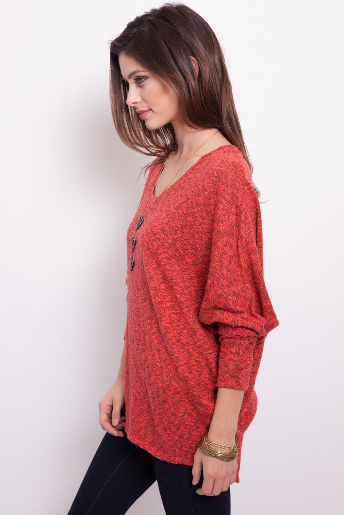 Coral Oversized Dolman