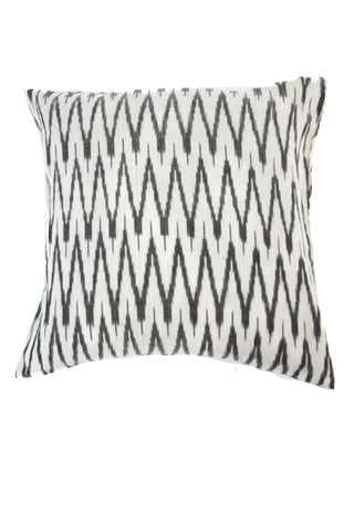 Hand Woven Black Striped Ikat Artisan Pillow Cover
