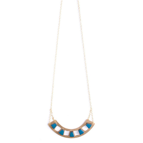 Verona Necklace in Navy