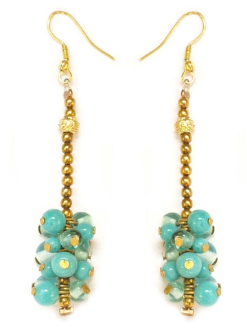 OFF THE CHAIN AQUA EARRINGS