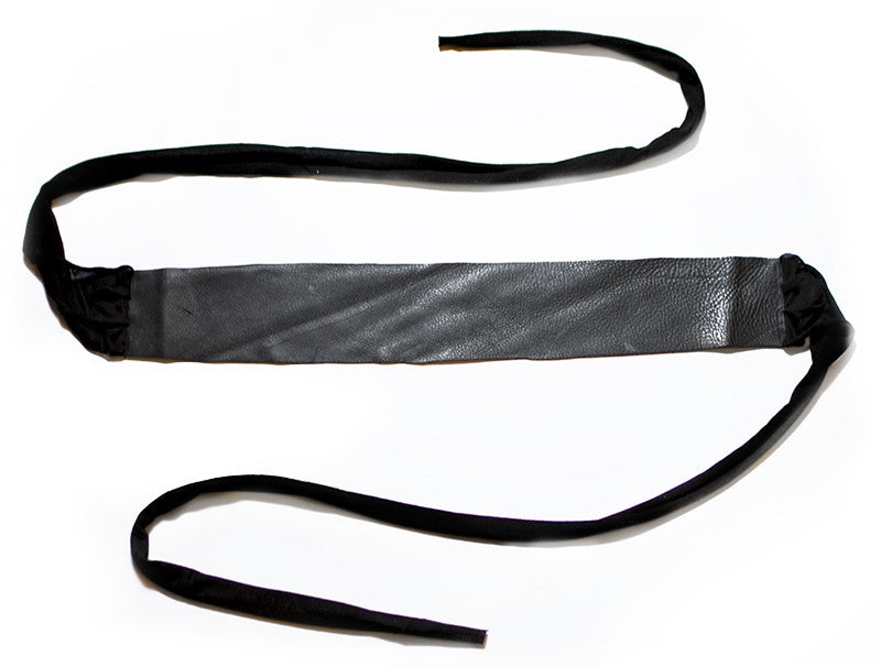 Wide Leather Belt in Black - One Size Fits All
