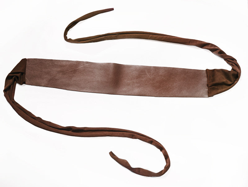 Wide Leather Belt in Espresso - One Size Fits All