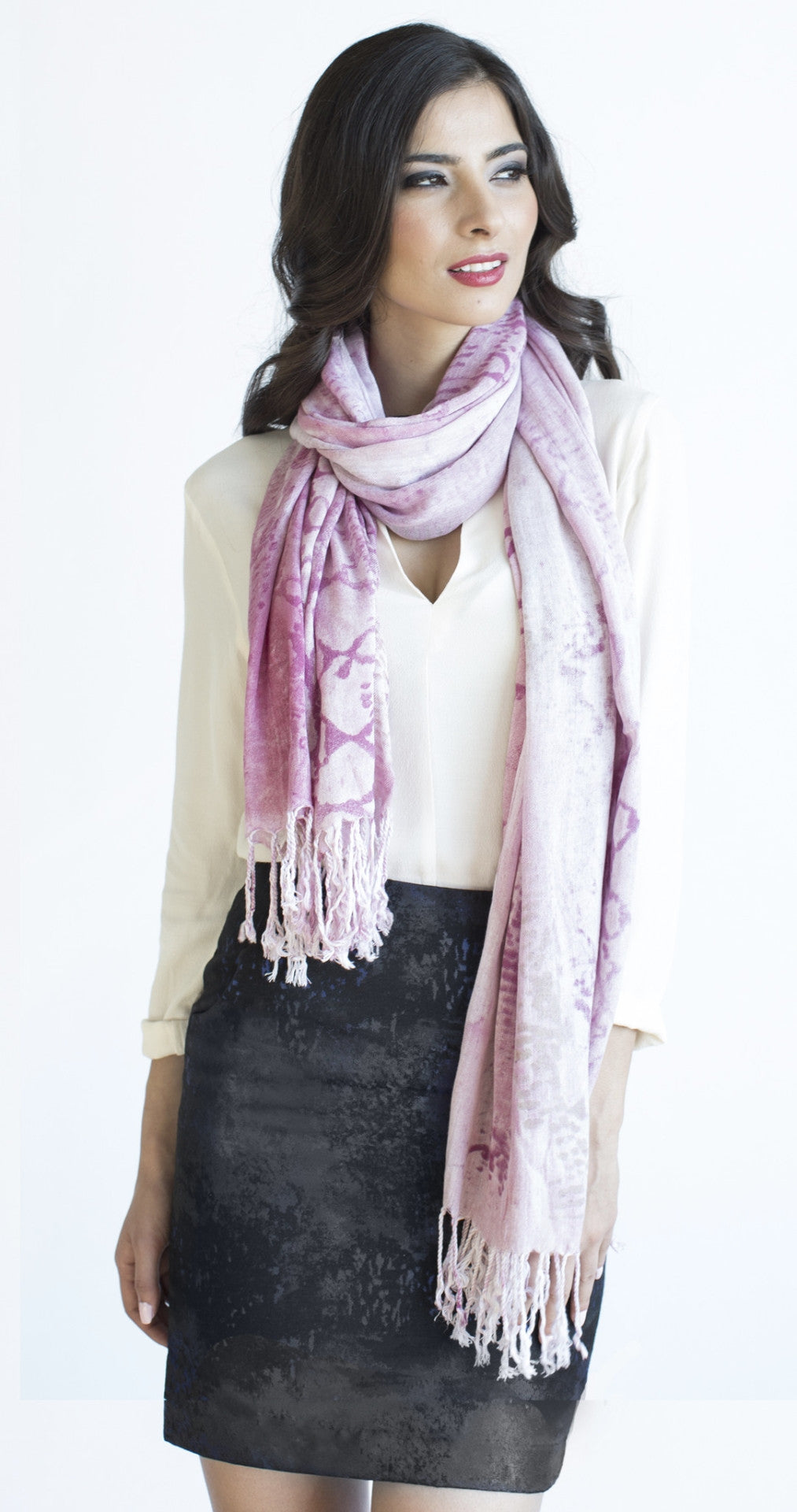 Snake Print Scarf in Candy
