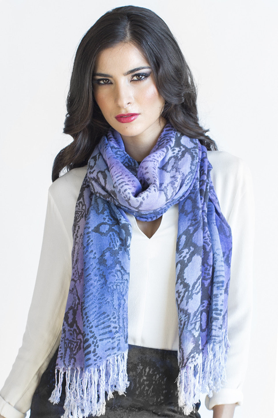 Snake Print on Scarf in Twilight