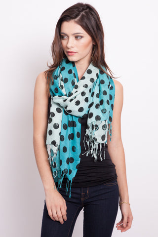 Tiger Print Scarf in Pewter