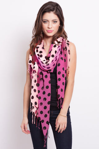 Free Gift with any $50 purchase: Polka Dot Scarf in Mint