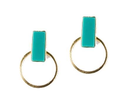 Hadley Studs in Turquoise