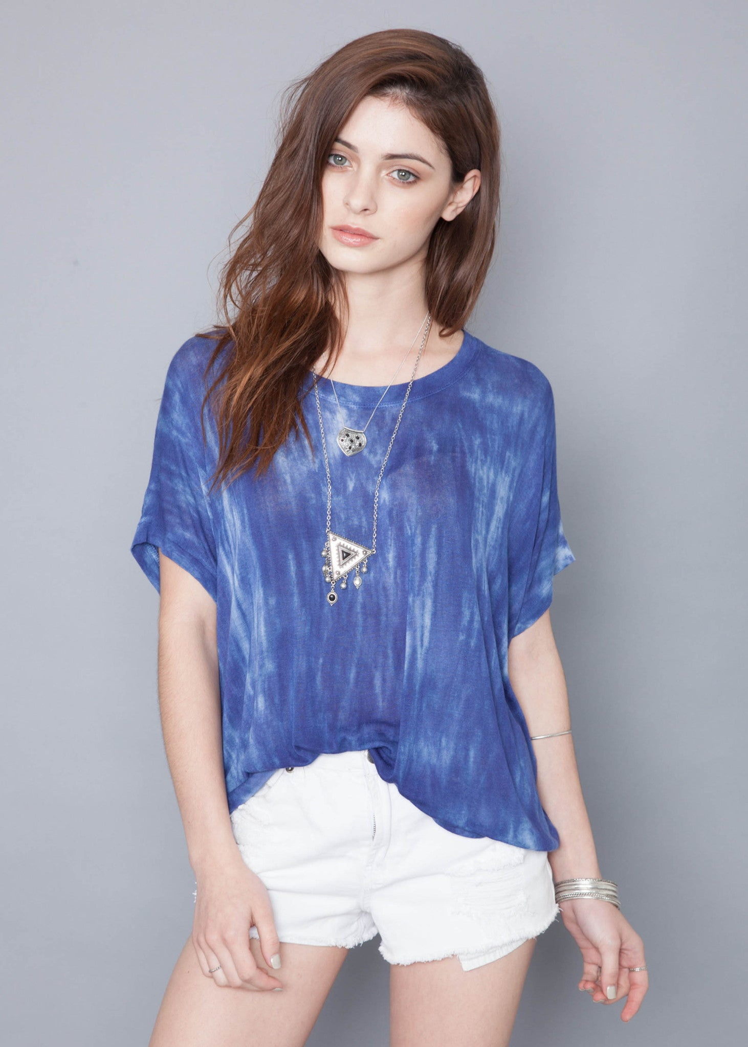 Blue Bamboo Box Tee
