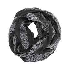 Grey Ikat Stripe Scarf