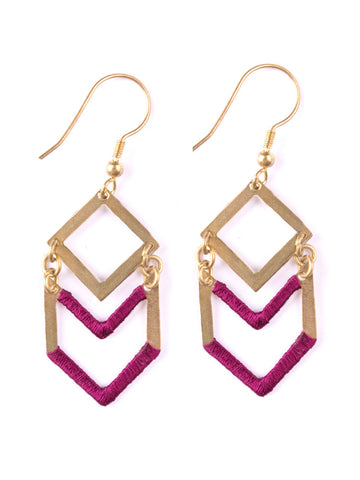 Common Thread Earrings in Fuchsia
