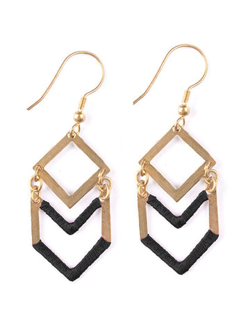 Desert Solitaire Earrings in Gold