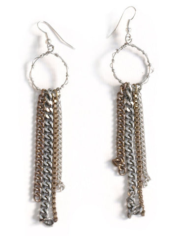 Metallic Fringe Earrings
