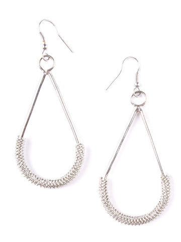 Silver Spiral Hardware Earrings