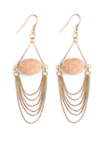 Off the Chain Coral Earrings