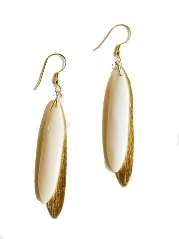 Sona Earrings in White