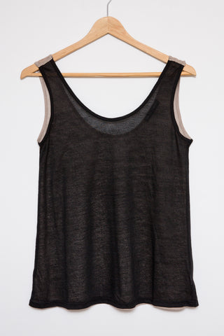 Luxe Basics Slub Tank - Whiskey Blue