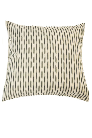 Hand Woven Wine and Gray Ikat Artisan Pillow Cover