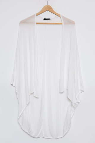 Loose Fit Cardigan Luxe Basics - White