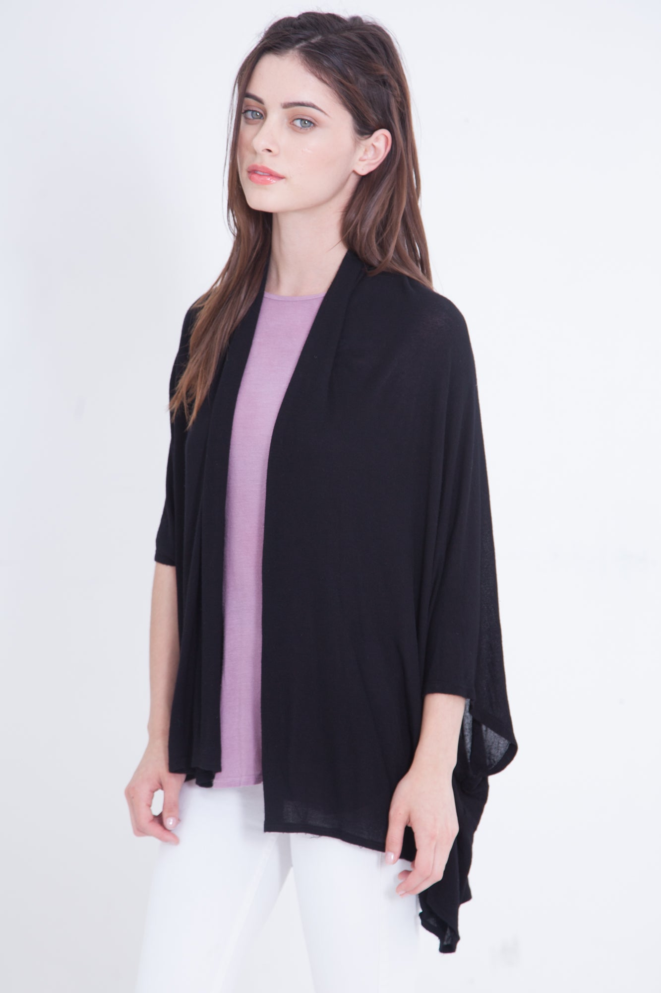 Loose Fit Cardigan Luxe Basics - Black