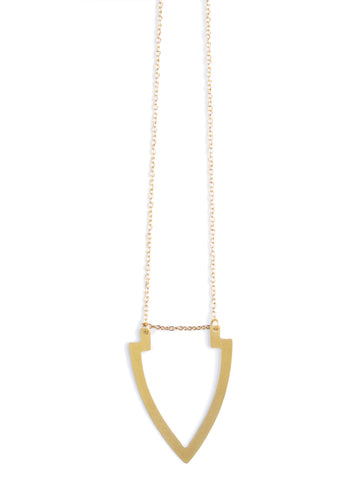 Inca Cross Necklace in Gold