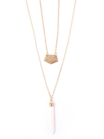 Spike Necklace in Cream