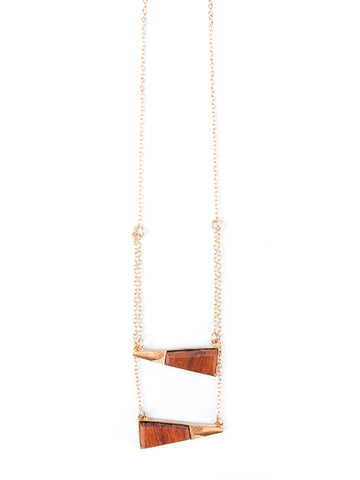 Thread Lightly Necklace in Gold & Red