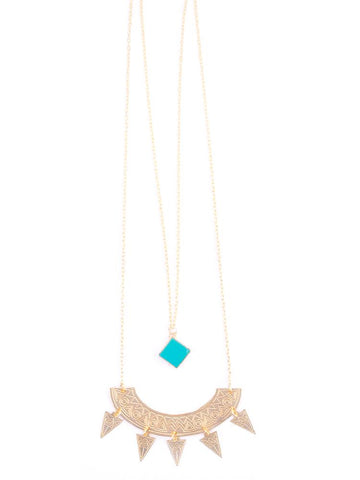 Surya Layered Necklace in Turquoise