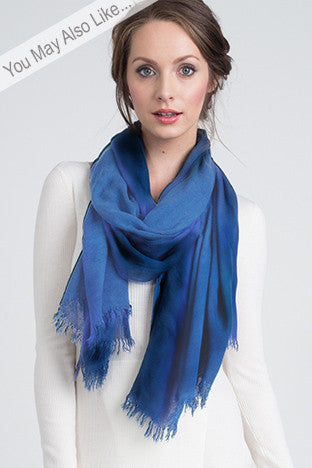 Cashmere Modal Blend Scarf in Solid French Blue