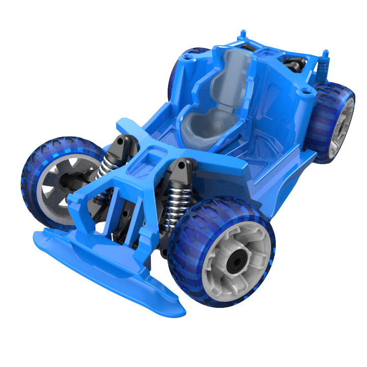 Chassis and Wheels - S1 - Blue